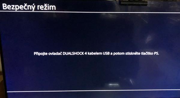 aktivace safe módu na Playstation 4