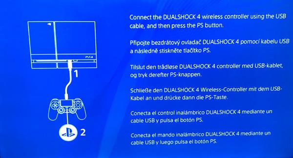 obrazovka po úspěšném přeinstalování PS4 OS