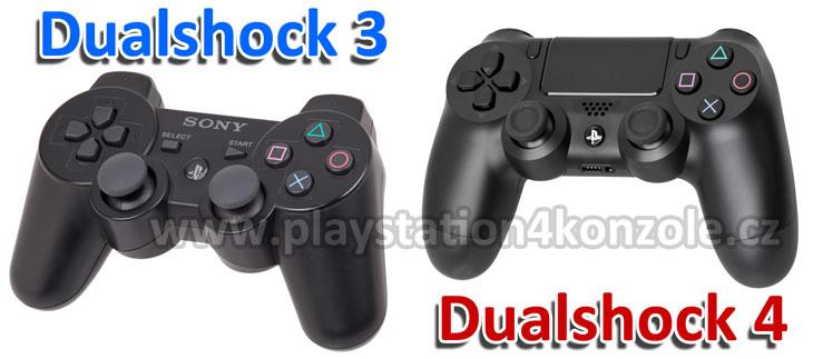 porovnání Dualshock 4 a Dualshock 3 ovladače