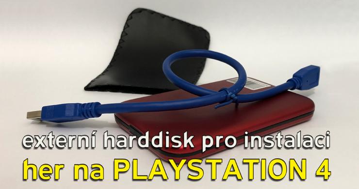 Playstation 4 externí HDD na instalaci her