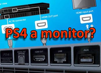 jak připojit Playstation 4 na monitor