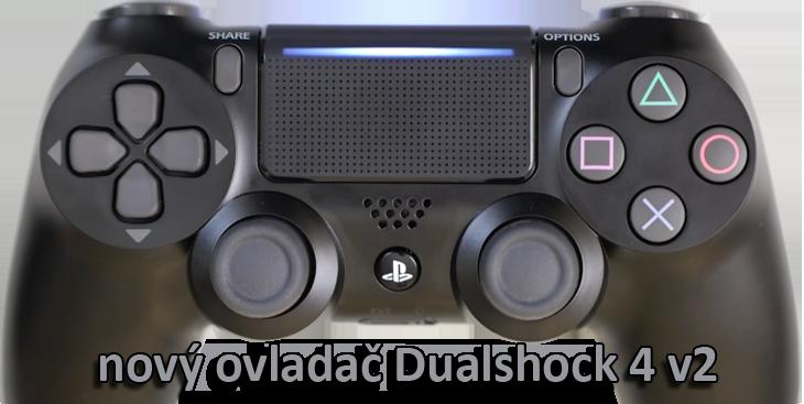 nový ovladač Dualshock 4 v2
