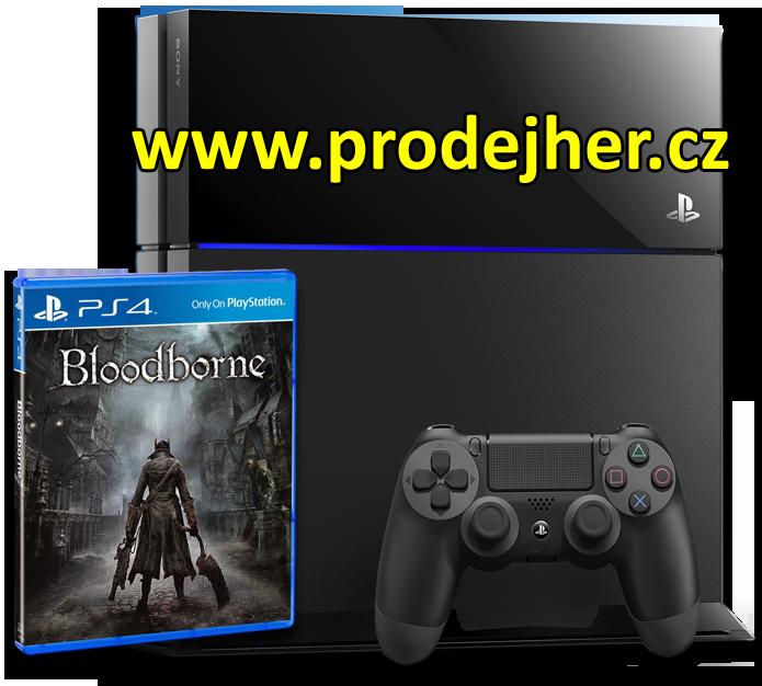 Bloodborne s herní konzolí Playstation 4