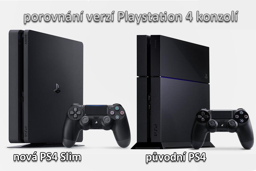 porovnání PS4 a PS4 Slim